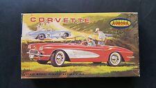 Rare Aurora Corvette Original Early question menthe contenu nº 519-70 Nice Box