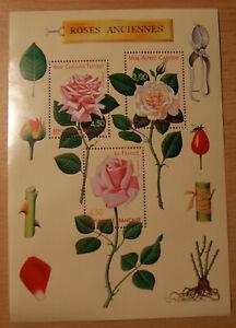 Bloc timbre France  n° 24 neuf**  Les roses anciennes en francs