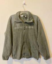 Used US Army USAF Gen III Foliage Green Fleece Jacket Size Large Long