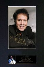 #84 CLIFF RICHARD Signature/Autograph Mounted Signed Photograph A4