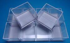10 Kleinstufen - Dosen weiss  41x35x32 mm für Mineralien Sammlung / Kästchen