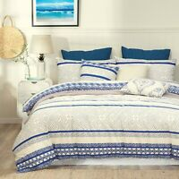 Cotton Hampton Duvet Doona Quilt Cover Set With Pillowcases King Size
