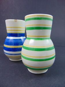 2 kleine Vasen Velten Vordamm Entwurf Werner Burri ?
