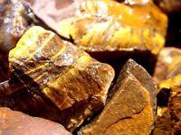GOLD TIGER EYE rough rocks for Tumbler / Polisher - 1Lb