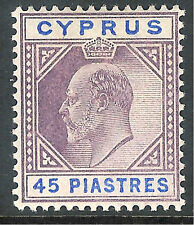 Cyprus 1902 dull-purple/ultramarine 45 piastres mint SG59