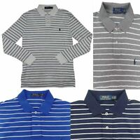 Polo Ralph Lauren Men's Interlock Polo Shirt Long Sleeve Striped Pony Logo