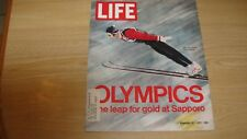 1972 LIFE MAGAZINE FEBRUARY 18 OLYMPICS SAPPORO  HIGH GRADE LOWEST PRICE ON EBAY