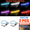 Car LED Strip 12V 45CM 2835 Daytime Running Soft Tube Light Turn Signal Lamp