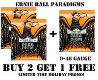 **3 SETS ERNIE BALL PARADIGM 2022 HYBRID SLINKY ELECTRIC GUITAR STRINGS (9-46)**