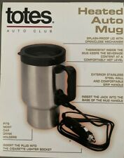 New listing Totes Heated Auto Mug Nib Stainless Steel 12V Splash Proof Handle New