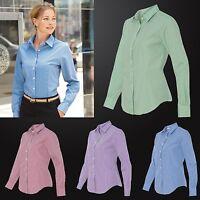 Van Heusen - Ladies' Gingham Check Shirt - 13V0226 Women's Office Shirt