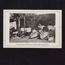 Czech soldiers in Bath Tub/Soldiers in the Tub * Vintage WW I PC Gay Int?