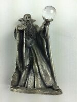 Vintage Gorham The King Arthur Chess Pewter Replacement Piece Wizard Merlin