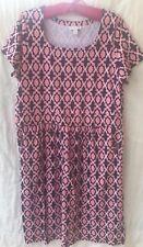 Charter Club Womens Sheath Dress Navy Blue & Pink Geometric Size 0X