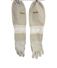 Natural Apiary Beekeeper Gloves White Leather Sting Proof