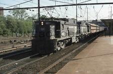 Original slide- PC/CR #4602 freight action @ Trenton NJ Station; 5/1977