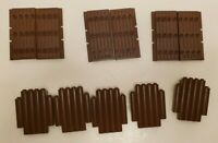 LEGO Lot Brown Doors Gates Castle Walls Vintage