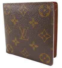 Louis Vuitton Authentic Men's Wallet Monogram Canvas & Leather Bifold Marco