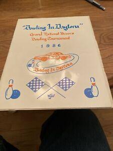 1986 Bowling In Daytona 500 Winston Cup Racing Drivers Program