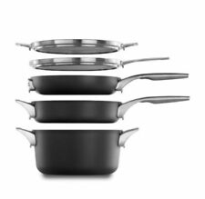 Calphalon Premier 5-Pc Space-Saving Non-Stick Set- Stack & Nest in Any Order New