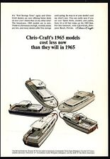 1965 CHRIS CRAFT Riviera - Commander - Cavalier - Constellation Boat VINTAGE AD