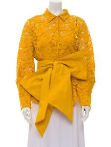 CAROLINA HERRERA Lace Pattern Long Sleeve Blouse
