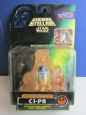 italian POTF 2 star wars R2 D2 C1-P8 DELUXE FX action figure POWER OF THE FORCE
