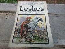 1915 Leslie's Newspaper Indian Motorcycle Evinrude Regal Motor Car U.S. Tire Ads