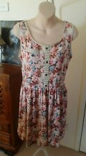 FRIENDS OF COUTURE - On The Shoreline Dress in Pink Floral Vintage Rockabilly 12