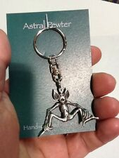 SILVER PENDANT ASTRAL PEWTER CORNISH LUCKY PISKIE  KEYRING  HAND CRAFTED UK NEW