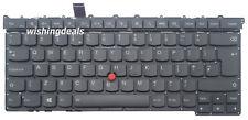 New For Lenovo ThinkPad X1 Carbon Gen 3 20BS 20BT UK Black backlit keyboard