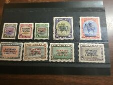 Greenland Scott 19-27 mint lightly hinged 1945 Liberation issue overprints