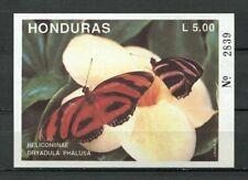 25106) HONDURAS 1992 MNH** Nuovi** Butteflies Farfalle S/S