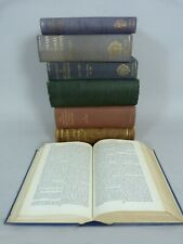 Lot of 7 large decorative bindings Dictionary National Biography & Literature