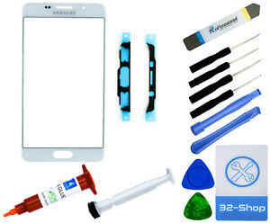 Samsung A5 2016 A510F Display Glas Frontglas Ersatzglas Scheibe Glass - Weiß