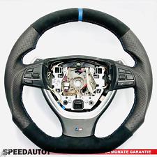 Tausch Tuning Abgeflacht Schwarz M-Power Lenkrad BMW F10 F11  F12 F13 W SMG Blau