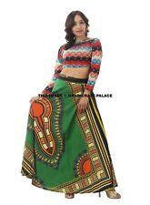New African Ankara Skirt Dashiki Print High Waist Wrap Around Cotton Beach Dress