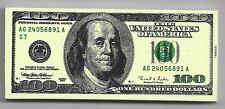 Gertbrolen Gomme Billet 100 Dollars Américain à l' effigie de Benjamin Franklin