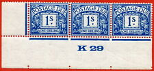 SG. D17. R17. 1/- deep blue. A superb UNMOUNTED MINT ( mounted in the margin )