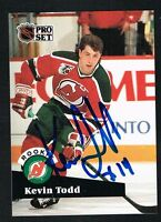 Kevin Todd #548 signed autograph auto 1991-92 Pro Set Hockey Trading Card