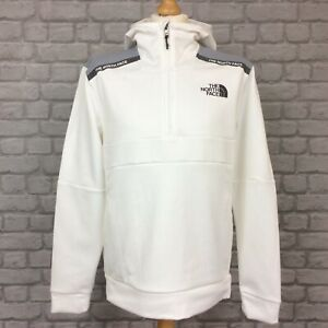 THE NORTH FACE MOUNTAIN ATHLETICS WHITE 1/2 ZIP HOODIE HOODED TOP RRP £95 KL
