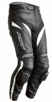 Black & white Motorbike Motorcycle Rider Leather Pant LP-02-2021 ( US 38-48 )
