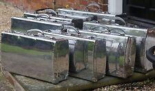 Antique Stack Of Polished Aluminium Art Deco Suitcases