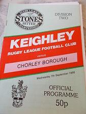7.9.88 Keighley v Chorley Borough programme
