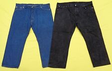 2 Pair LOT Mens LEVIS Button Fly 501 Denim Blue Jeans 52 x 32 BIG & TALL (50x30)