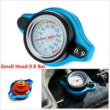 Car Thermost Radiator Cap Cover+ Water Temp Gauge Small Head 0.9BAR for Cars SUV