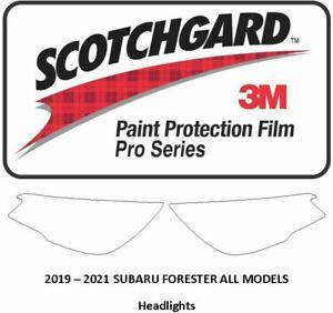 3M Scotchgard PRO Paint Protection Film 2019-2021 Subaru Forester HEADLIGHTS