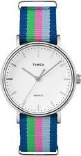 Timex TW2P91700 Unisex Weekender Fairfield Mid-Size Rainbow Fabric Band Watch