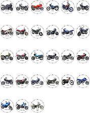 Biker Wanduhr mit Yamaha Motorcyle Motiven für Bike Motorrad Teil 2 / 3