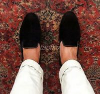 British Mens Slip On Wedding Loafers Business Velvet Driving maccasions Shoes sz